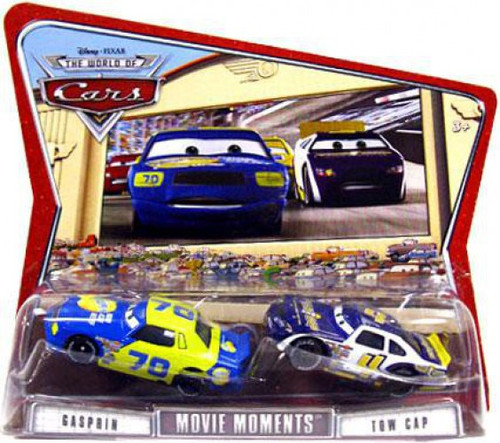 Disney / Pixar Cars The World of Cars Movie Moments Gasprin & Tow Cap Diecast Car 2-Pack