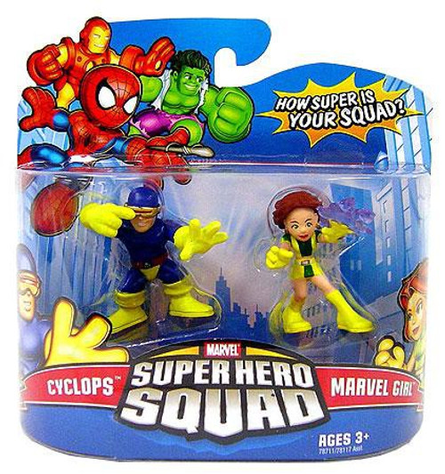 Super Hero Squad Series 11 Cyclops & Marvel Girl 3-Inch Mini Figure 2-Pack