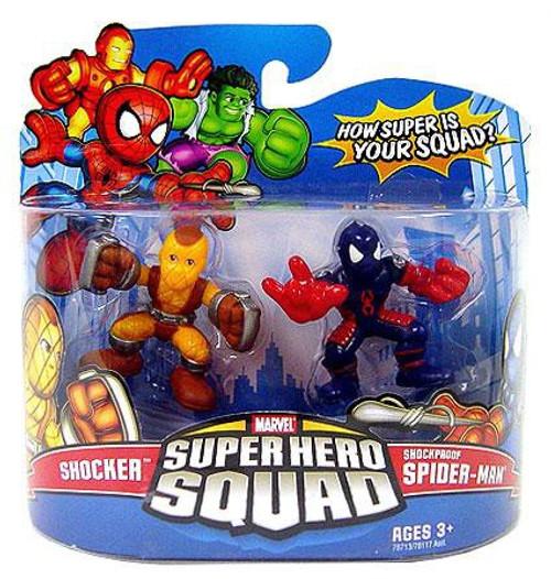 Marvel Super Hero Squad Series 11 Shocker & Shockproof Spider-Man 3-Inch Mini Figure 2-Pack