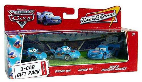 Disney / Pixar Cars The World of Cars Multi-Packs Dinoco 3-Car Gift Pack Diecast Car Set