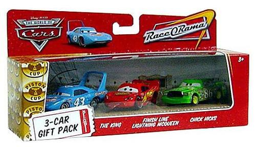 Disney / Pixar Cars The World of Cars Multi-Packs Finish Line 3-Car Gift Pack Diecast Car Set