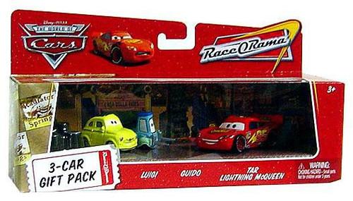 Disney / Pixar Cars The World of Cars Multi-Packs Luigi & Guido 3-Car Gift Pack Diecast Car Set
