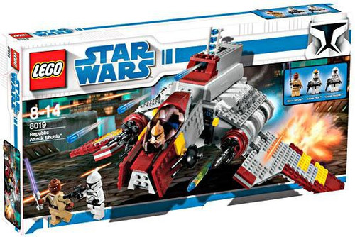 LEGO Star Wars The Clone Wars Republic Attack Shuttle Set #8019