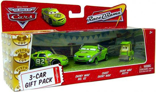 Disney / Pixar Cars The World of Cars Multi-Packs Shiny Wax 3-Car Gift Pack Diecast Car Set