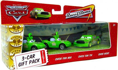 Disney / Pixar Cars The World of Cars Multi-Packs Chick Hicks 3-Car Gift Pack Diecast Car Set
