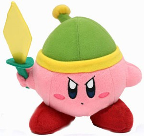 Nintendo Kirby's Adventure Green Hat & Sword Kirby 6-Inch Plush