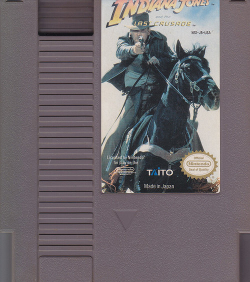 Nintendo Indiana Jones and the Last Crusade Video Game Cartridge [Played Condition]