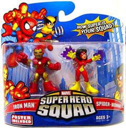 Marvel Super Hero Squad Series 15 Iron Man & Spider-Woman 3-Inch Mini Figure 2-Pack