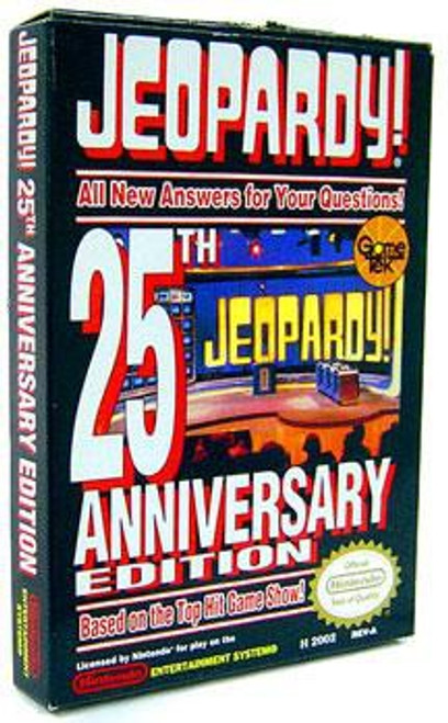Nintendo NES Jeopardy 25th Anniversary Edition Video Game Cartridge [Opened, Complete]