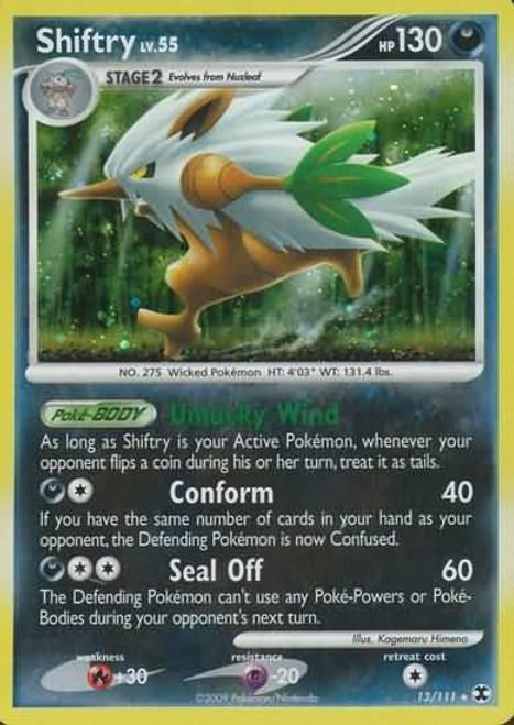 Pokemon Platinum Rising Rivals Rare Holo Shiftry #13