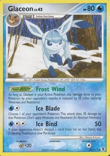 Pokemon Platinum Rising Rivals Uncommon Glaceon #41