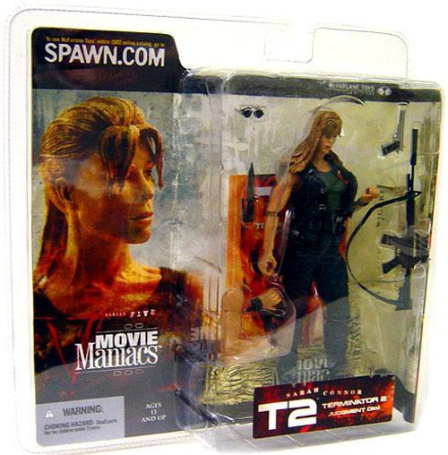 McFarlane Toys Terminator 2 Judgment Day Movie Maniacs Series 5 Sarah Connor Action Figure [Straight Hair]