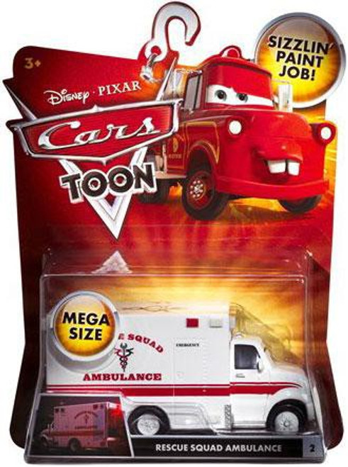 Disney / Pixar Cars Cars Toon Deluxe Oversized Rescue Squad Ambulance Diecast Car