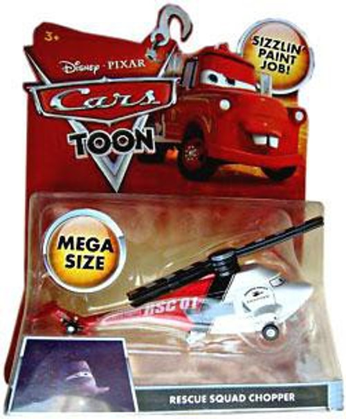 Disney / Pixar Cars Cars Toon Deluxe Oversized Rescue Squad Chopper Diecast Car