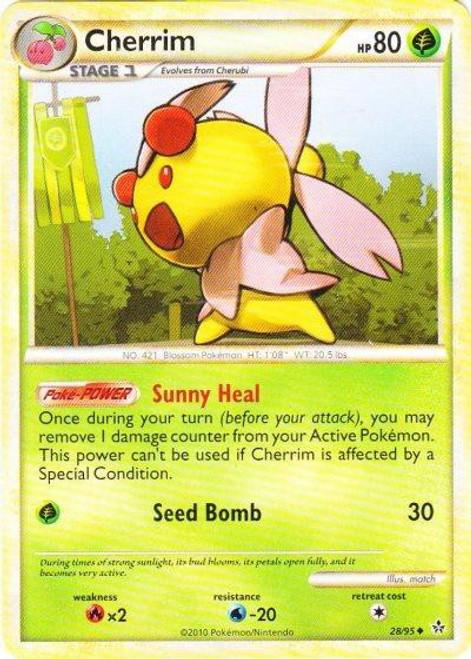 Pokemon HeartGold & Soulsilver Unleashed Uncommon Cherrim #28