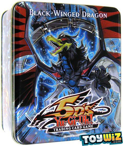 YuGiOh 5D's Trading Card Game 2010 Black-Winged Dragon Tin Set [5 Booster Packs & 5 Super Rare Cards!]