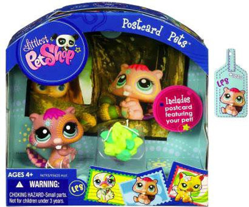 Littlest Pet Shop Postcard Pets Series 6 Beaver Figure