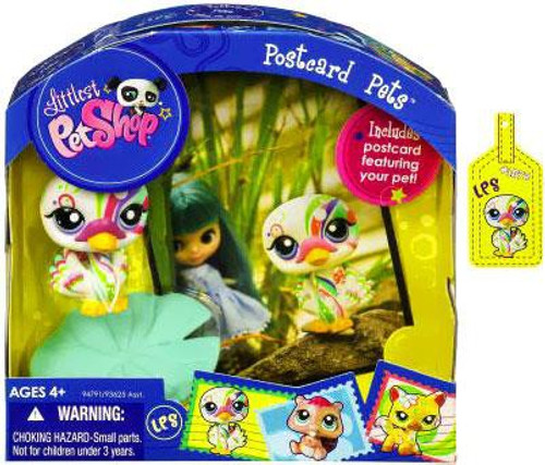 Littlest Pet Shop Postcard Pets Series 6 Swan Figure
