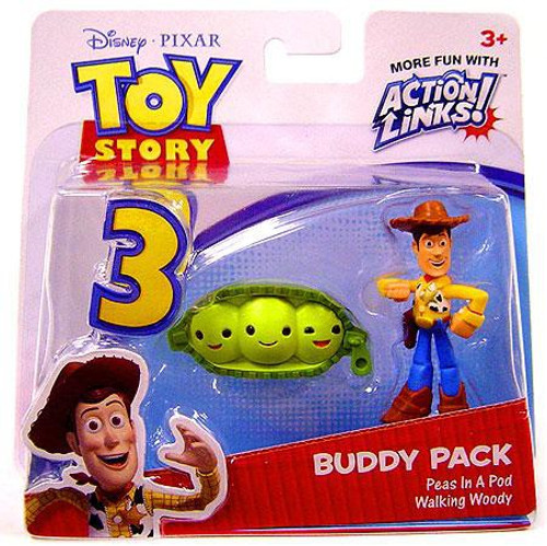 Toy Story 3 Action Links Buddy Pack Walking Woody   Peas In A Pod Mini  Figure a9b7a947540