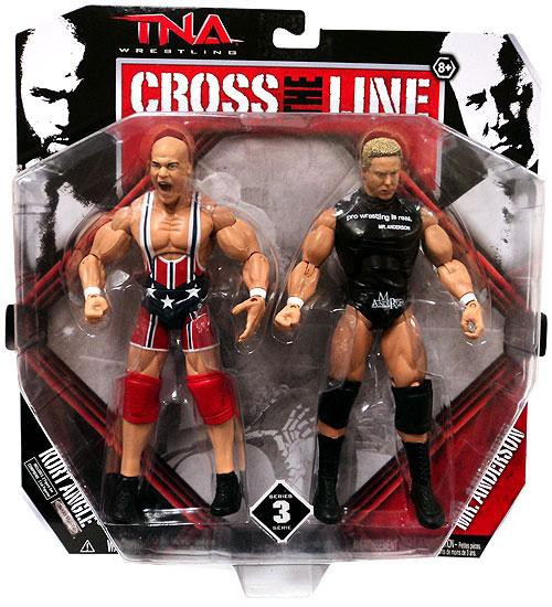 TNA Wrestling Cross the Line Series 3 Kurt Angle & Mr. Anderson Action Figure 2-Pack
