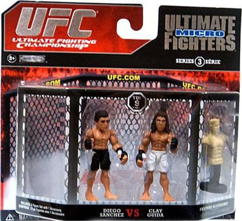 UFC Ultimate Micro Fighters Series 3 Diego Sanchez vs. Clay Guida Mini Figure 2-Pack [UFC 9]