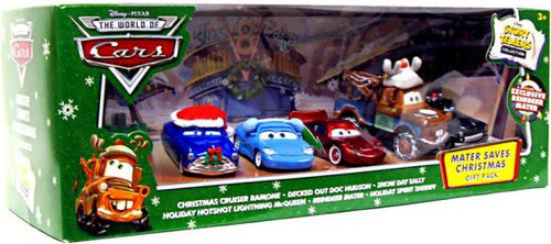 Disney / Pixar Cars The World of Cars Story Tellers Mater Saves Christmas Gift Pack Exclusive Diecast Car Set