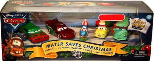 Disney / Pixar Cars Story Tellers Mater Saves Christmas Exclusive Diecast Car Set [2010]