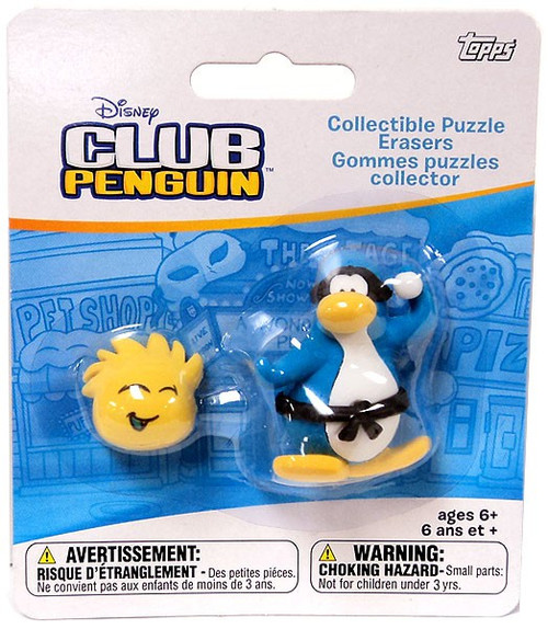 Club Penguin Topps Collectible Puzzle Erasers Pencil Topper