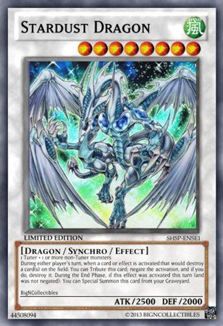 YuGiOh Shadow Specters Special Edition Super Rare Stardust Dragon SHSP-ENSE1