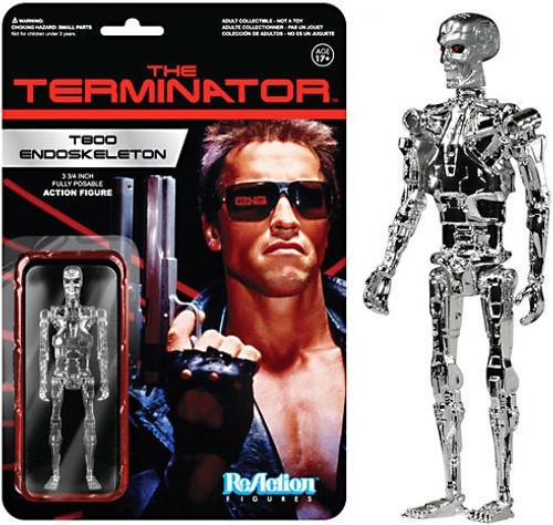 Funko Terminator ReAction T800 Endoskeleton Action Figure [Chrome]