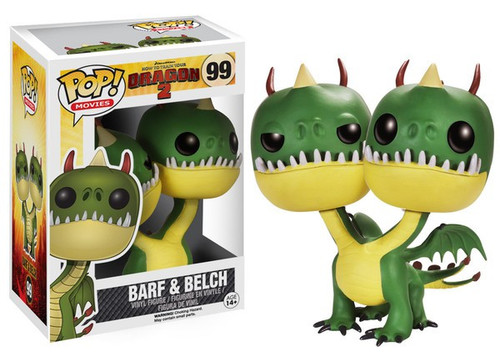 Funko How to Train Your Dragon 2 POP! Movies Barf & Belch Vinyl Figure #99