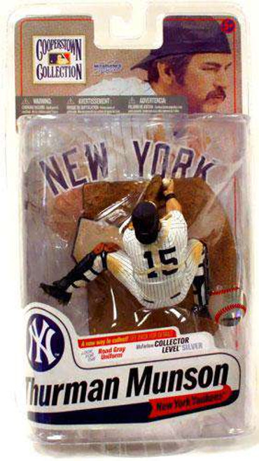 McFarlane Toys MLB Cooperstown Collection Series 7 Thurman Munson Action Figure [Pinstripes, Damaged Package]
