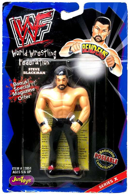 WWE Wrestling WWF Bend-Ems Series 10 Steve Blackman Rubber Figure