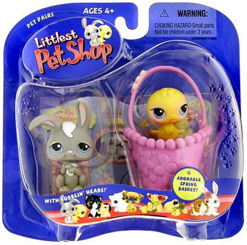 Littlest Pet Shop Pet Pairs Bunny & Chick Figure 2-Pack [Spring Basket]