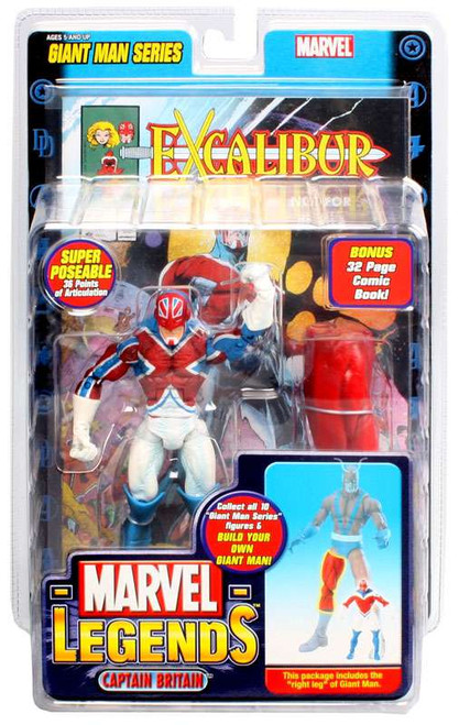 Marvel Legends Giant Man Build A Figure Captain Britain Exclusive Action Figure