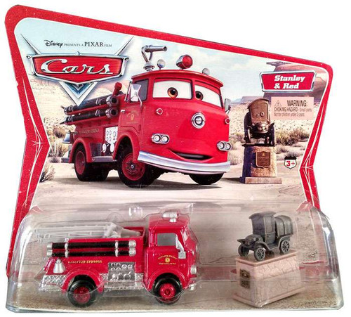 Disney / Pixar Cars Series 1 Stanley & Red the Firetruck Diecast Car 2-Pack [Movie Moments]