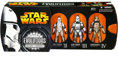 Star Wars Evolutions Clone Troopers Action Figure Set