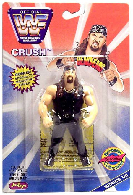 WWE Wrestling WWF Bend-Ems Series 7 Crush Rubber Figure