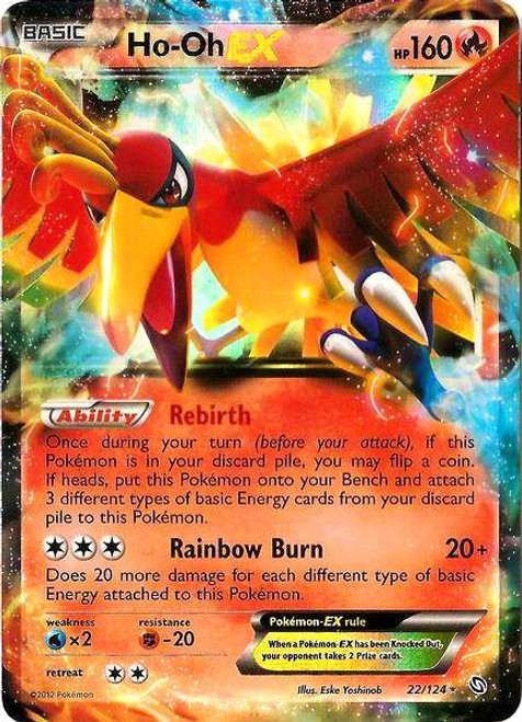 Pokemon Black & White Dragons Exalted Ultra Rare Ho-Oh EX #22