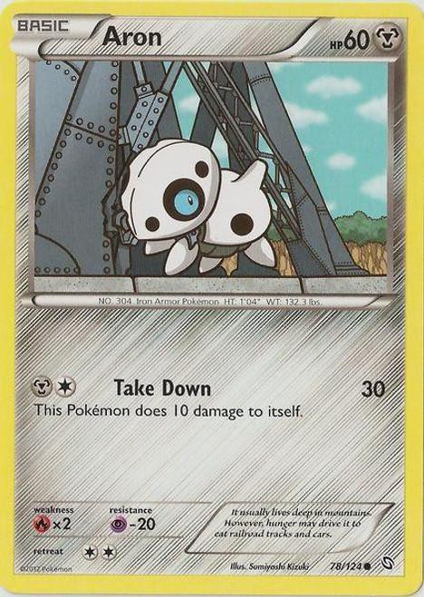Pokemon Black & White Dragons Exalted Common Aron #78