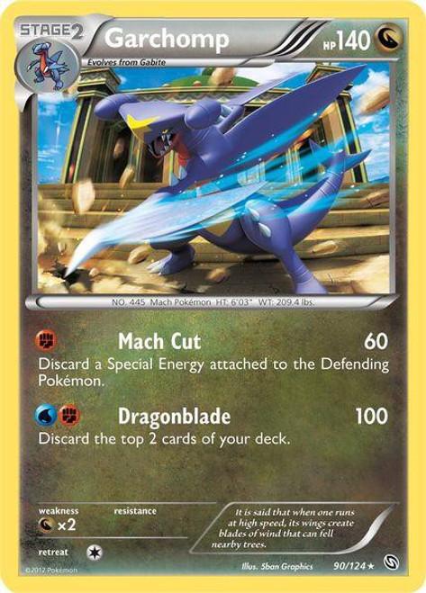 Pokemon Black & White Dragons Exalted Rare Holo Garchomp #90