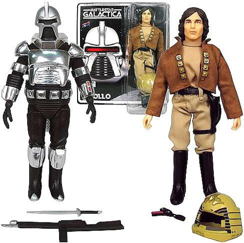 Battlestar Galactica Cylon Centurion & Captain Apollo Action Figures