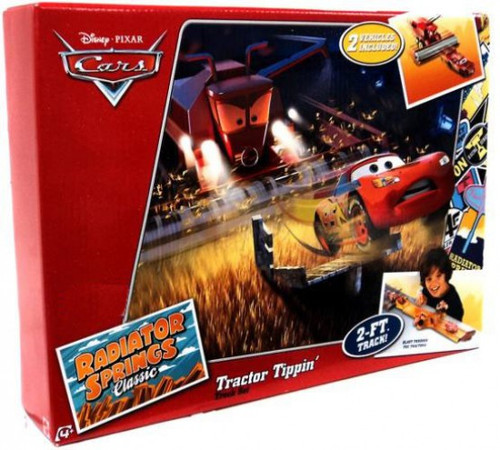 Disney / Pixar Cars Radiator Springs Classic Tractor Tippin' Exclusive Diecast Car Track Set [2012]