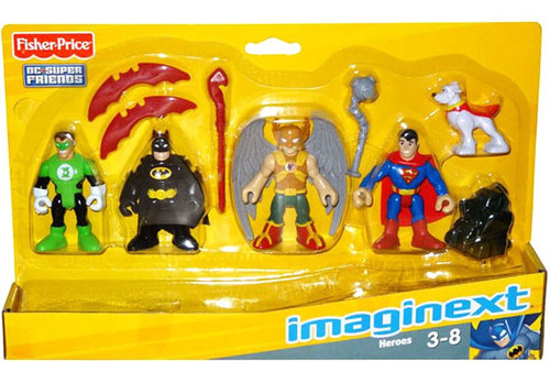 Fisher Price DC Super Friends Imaginext Heroes 3-Inch Mini Figure Set
