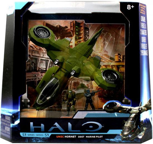 Halo 4 S-1 Series UNSC Hornet ODST with Marine Pilot 10-Inch Diecast Set #96621 [Combat Edition]