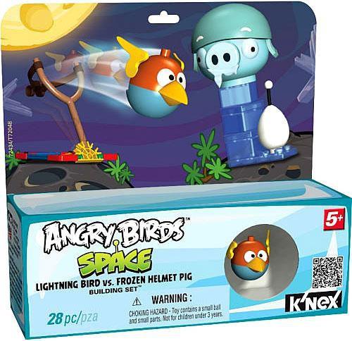 K'NEX Angry Birds Lightning Bird vs. Frozen Helmut Pig Set #72434