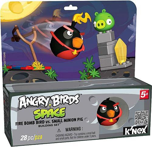 K'NEX Angry Birds Fire Bomb Bird vs. Small Minion Pig Set #72432