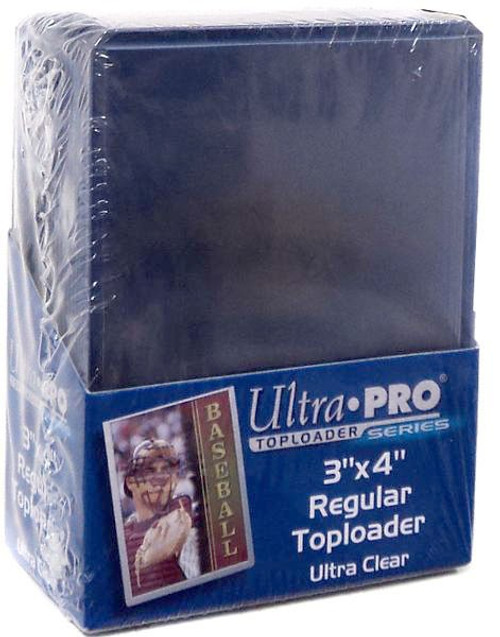 "Ultra Pro Card Supplies 3"" X 4"" Regular Toploader Card Holders [25 Count, Ultra Clear]"