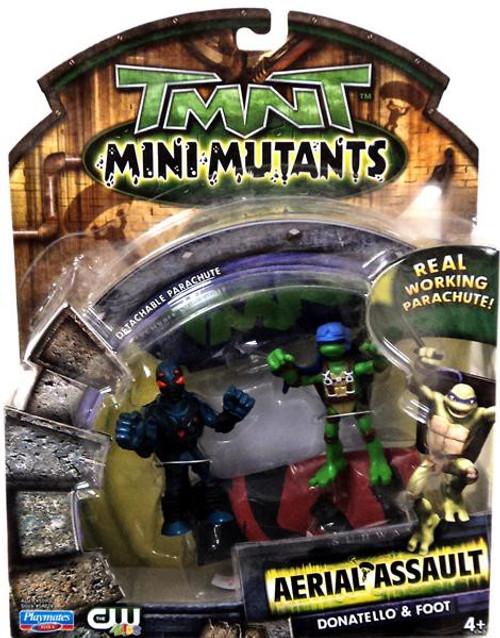Teenage Mutant Ninja Turtles TMNT Mini Mutants Aerial Assault Donatello & Foot Action Figure Set