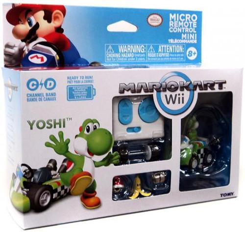 Super Mario Mario Kart Wii Micro Remote Control Tomy Yoshi R/C Vehicle